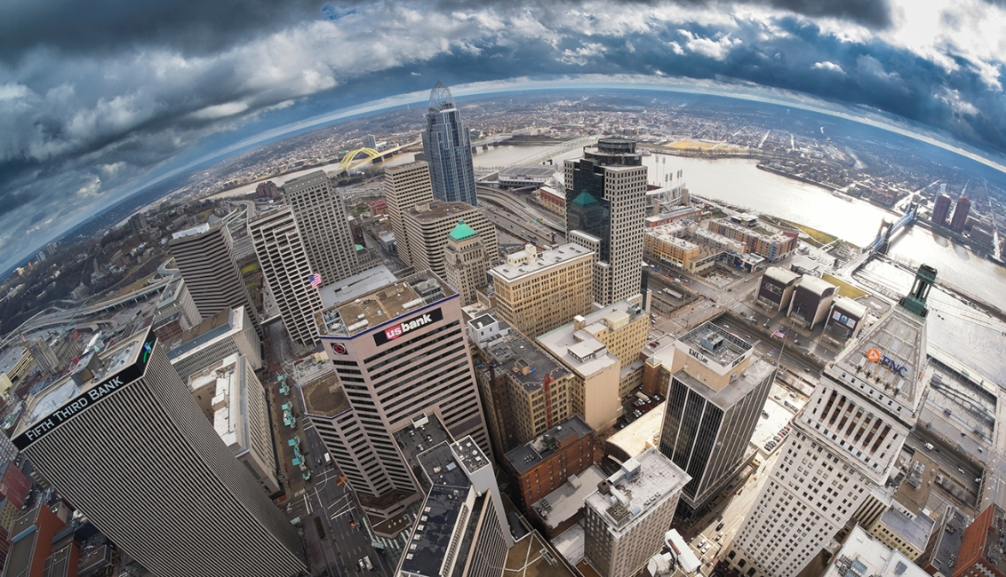 Over Cincinnati