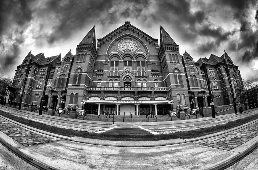Cincinnati Music Hall - Black & White