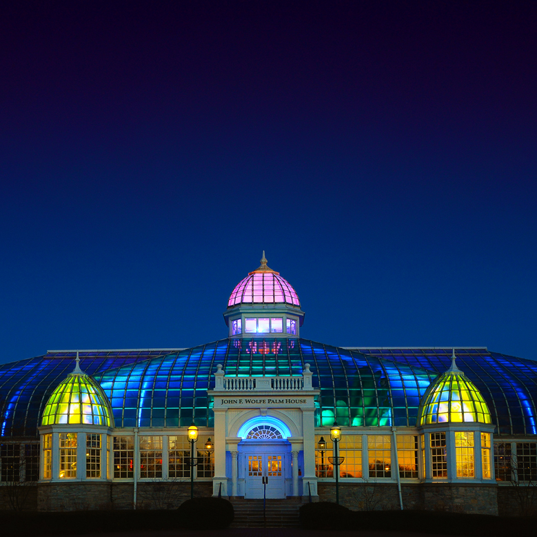 Franklin Park Conservatory's Wolfe Palm House At Night