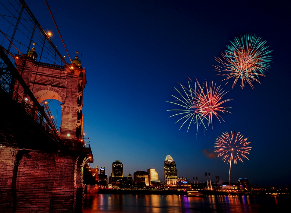 Roebling Bridge Fireworks