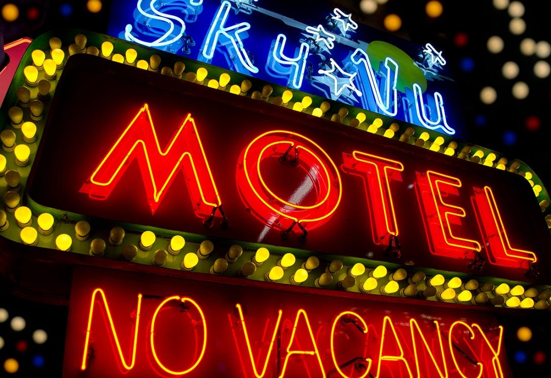 Sky Vu Motel Neon Sign