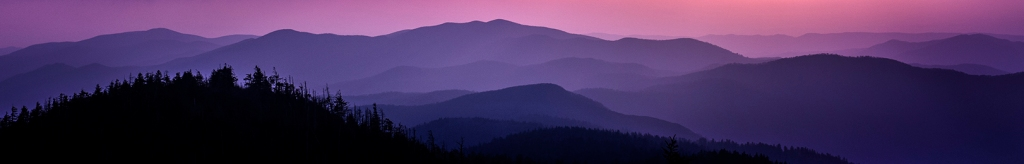 Smoky Mountains From Clingman's Dome